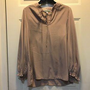 Pleione blouse front tie shirt large EUC